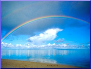 rainbow-blue-sky-clouds